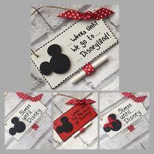 Disney countdown holiday plaque chalkboardMinnie Mickey Disneyland