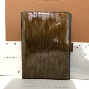 Louis Vuitton Cyber Epi Agenda PM Khaki Leather Notebook CoverC1295