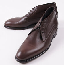 NIB $945 CANALI 1934 Goodyear-Welt Brown Leather Ankle Boots US 9.5 D Shoes