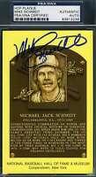 MIKE SCHMIDT PSA DNA Autograph Gold HOF Plaque Authentic Hand Signed