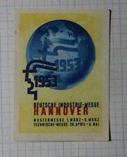 German Industrial Fair 195 00004000 3 Hanover De Exposition Poster Stamp Ads