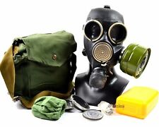 Soviet russian gas mask GP-7 V. Black rubber. New full set with all equipment. S