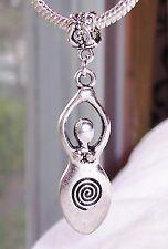 Oversized Fertility Goddess Pregnancy Birth Dangle Charm for European Bracelets