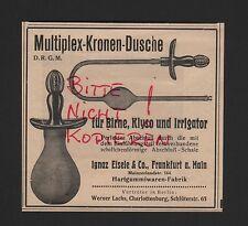 Francoforte/M., Pubblicità 1912, Ionaζ Eisele & Co. multiplex-CORONE-DOCCIA