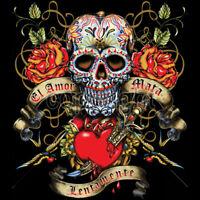 Day Of The Dead Sugar Skull Tattoo El Amor Mata Lentamente T-Shirt Tee