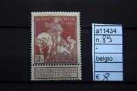 FRANCOBOLLI BELGIO NUOVI* N°89 (A11434)