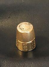1917 Antique Thimble 14k Yellow Gold 4g grams