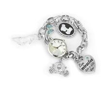 Disney Cinderella Charm Bracelet Watch SILVER TONE In Disney Branded Gift Box
