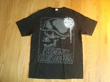 Men's Black METAL MULISHA Skulls T Shirt Size M VGC