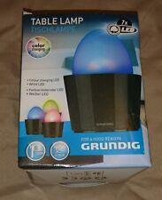 NEUF GRUNDIG Lampe de table Couleur Changeante DEL Blanc Batterie Portable 52305