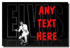 Black Elvis Presley Personalised Jumbo Fridge Magnet