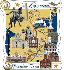 Cat's Meow Village Map Great Boston Freedom Trails #Mw6346 New Exclusive Shp Dis