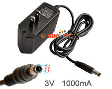 AC 100-240V /DC 3V 1A 1000MA Converter Switching Adapter Power Supply Charger