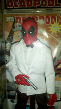 Deadpool in James Bond White Tuxedo Custom Hot Toys Figure! Real Clothes! UNIQUE