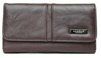Ladies Genuine Leather Double Sided Purse with Flap (Tan, Red, Brown, Black)
