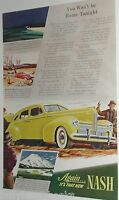 1940 Nash advertisement page, Nash sedan, color