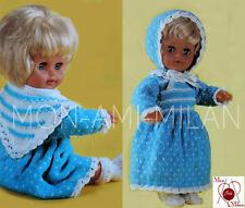 Knitting Pattern Copy DOLLS CLOTHES PREM BABY DRESS BONNET SHAWL SOCKS DK