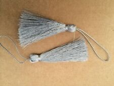 Pair Of Silver Tassels, Dolls House Miniature, Home Decor