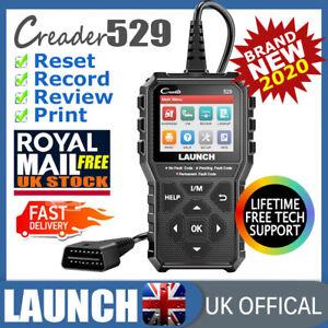 Vehicle Scan Tool OBD2 Scanner Car Fault Code Reader Diagnostic Service Reset UK