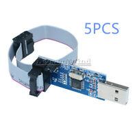 5PCS USBASP USBISP AVR Programmer Adapter 10Pin Cable USB ATMEGA128 for Arduino