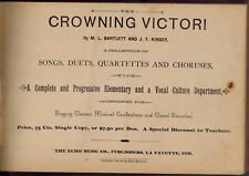 1888 Chorus Music Songs Duets, Crowning Victor, Choral Society, Vocal Culture