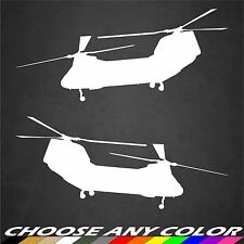 2 US Navy CH-46 Sea Knight Helicopter Stickers Military Graphics Decal Car