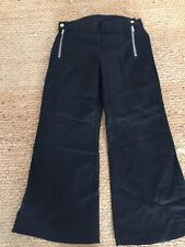 7 For All Mankind Women's Flared Trouser Jeans With Flap Pocket Black Size 28