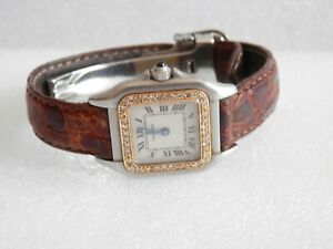 Ladies SS Cartier Panthere with Diamond Bezel