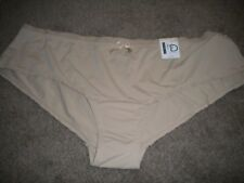 New Directions beige hipster panty with matching bow nylon & spandex NWT 3X
