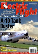 ELECTRIC FLIGHT MAGAZINE 1997 DEC A-10 TANK BUSTER, SPITFIRE, VARMINT PYLON RACE