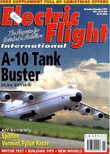 ELECTRIC FLIGHT MAGAZINE 1997 DEC A-10 TANK BUSTER, SPITFIRE, VARMINT PYLON RACE