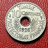 #4141 - RARE - TUNISIE 10 cent 1926 TTB+/SUP - FACTURE