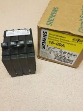 New Siemens Q21520Ct 20-Amp Double Pole Two 15-Amp Single Pole Circuit Breaker