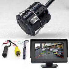 "Car Rear Forward Side Front View Backup Parking CCD Camera C00185 + 4.3"" Monitor"