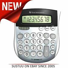 Texas Instruments Desk Calculator|Large Digits Display|Dual Power|1795SVFBL11E1
