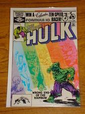 INCREDIBLE HULK #267 VOL1 MARVEL COMICS JANUARY 1982