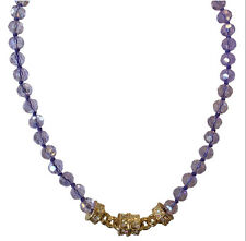 KIRKS FOLLY VIOLET VISIONS MAGNETIC NECKLACE    goldtone