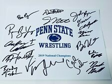 2019 PENN STATE WRESTLING TEAM SIGNED AUTOGRAPH 8X10 PHOTO COA NATIONAL CHAMPION
