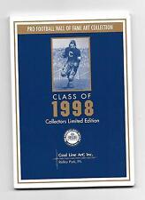 1998 Goal Line Art Card Set Paul Krause, Tommy McDonald, Anthony Munoz,