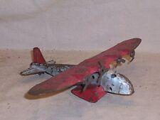 Vintage Wyandotte Toy Airplane Pressed Steel Metal All Original