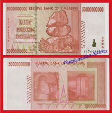 ZIMBABWE 50 Billion 50000000000 Dollars dolares 2008 Pick 87 SC / UNC