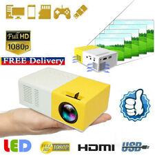 Full HD 1080P Mini Pocket LED Home Cinema Portable Projector Video HDMI USB AV