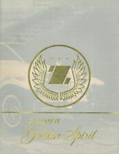 1975 ZIMMER GOLDEN SPIRIT PROSPEKT BROCHURE CATALOGUE ENGLISCH (USA)