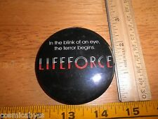 "Lifeforce movie 1980's licensed pinback button 2.5"" Vintage"
