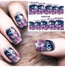 Eye Nail Art (Water Decal Wraps) Eye Nail Decals