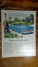 Boy Taking Photo Of Mom & Dad & Car in 1953 FORD Crestline Ad