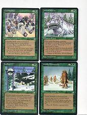 4-magic lot ice age woolly mammoths gorilla pack johtull wurm foxfire