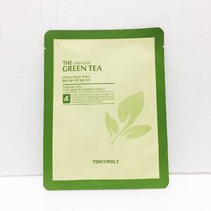 [Tonymoly] Green Tea Watery Mask Sheet 1ea 20g, Moisture Skin Care, Korea-Beauty