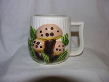 "Arnels Brown Mushroom Coffee Cup 3 3/4"" Tall x 3"" Across The Top"