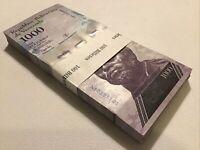 Venezuela Banknote Half Bundle. 50 X 1000 Bolivares. Dated 2017. Unc Banknotes.